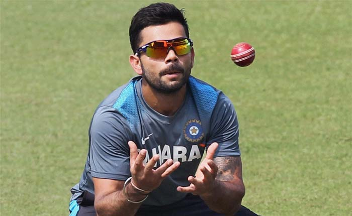 Virat Kohli is seen doing some catching practice here. He will be required to be at his best in the slips as India longs for a settled slip cordon in Test matches.