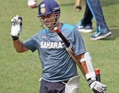 Photo : Team India sweats it out ahead of Sachin's penultimate Test
