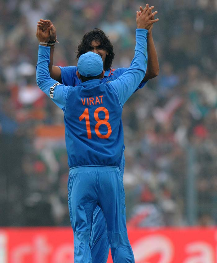 Ishant Sharma too had some success as he took three wickets too. Pakistan were bowled out on 250. (Image courtesy: BCCI)