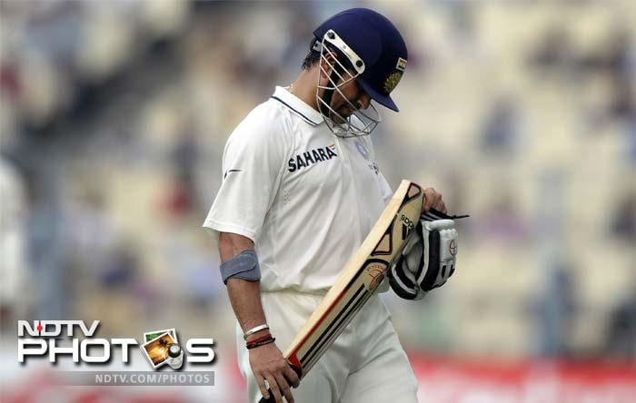 The day was not one that would see Tendulkar's 100th international ton as Devendra Bishoo removed his senior opponent on 38.