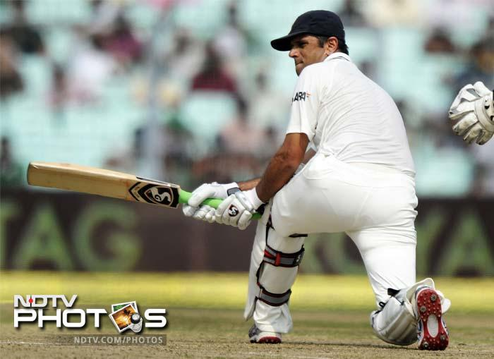 Rahul Dravid has been in exceptional form and most of it was on ample display on the opening day of the 2nd Test between India and West Indies. (AFP and AP images)
