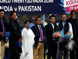 Photo : Eden Gardens Felicitates Imran Khan, Sachin Tendulkar