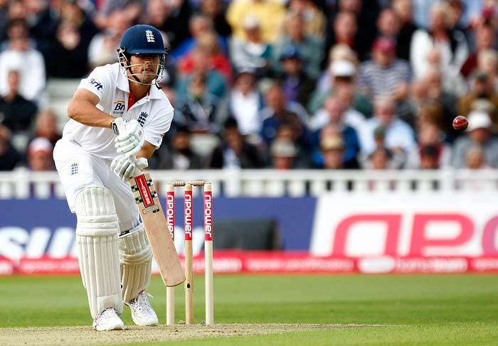 England openers came out determined to find the right form with one another. Alastair Cook knocked the ball around well and mostly, made up for his shoddy performance in the series so far.v
