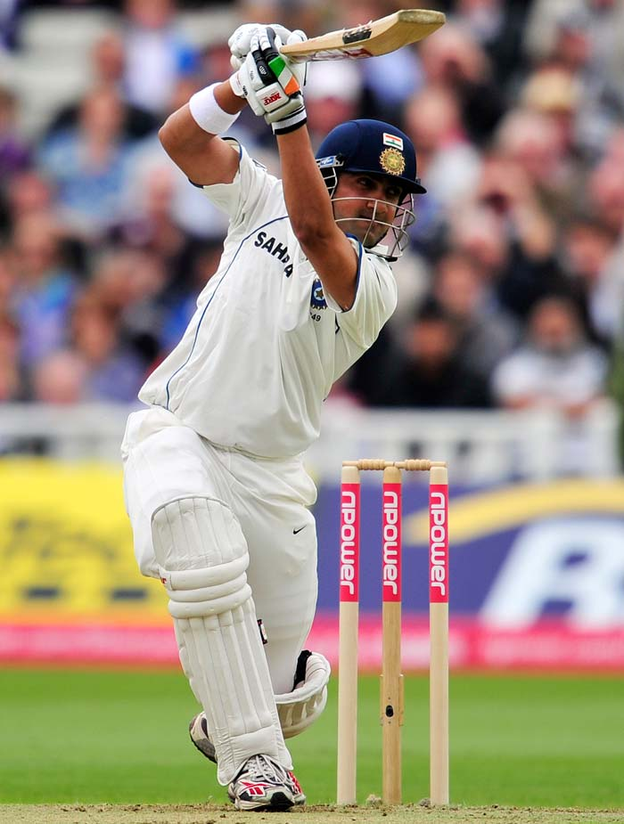 Gambhir reached a personal score of 38 but edged a delivery from Tim Bresnan on to his stumps.