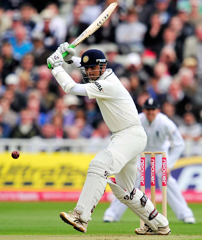 Rahul Dravid on the other end was cautious. He played with some un-ease as the ball was seaming but largely looked set to come to India's rescue.