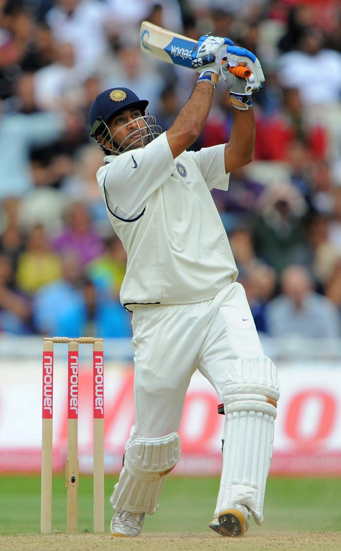 MS Dhoni at the other end, played some heroic shots. He got some support from a hard-hitting Praveen Kumar at the other end. It was pure entertainment before what was clearly, the inevitable end of the Test match.