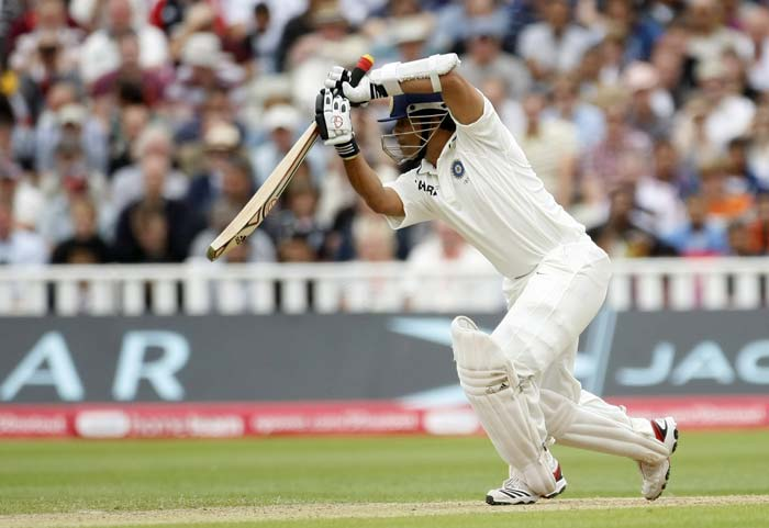 Sachin Tendulkar looked to snatch some respect back from England. He played well for his score of 40 but an unfortunate run-out eventually, cost him his wicket.