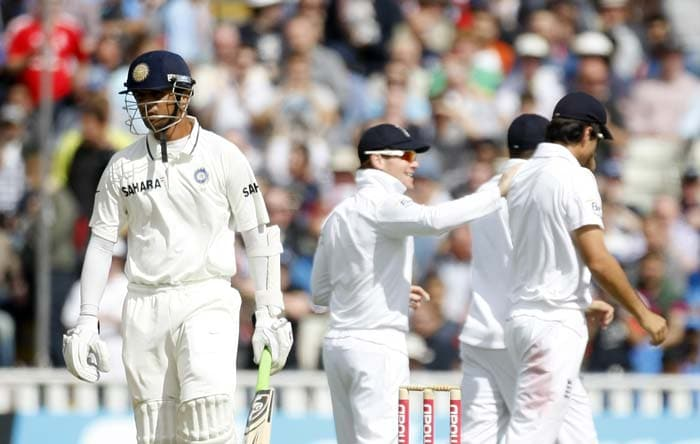 Anderson had more misery to pile on India. He followed up his wicket of Gambhir with that of Rahul Dravid, much before the otherwise rock-solid batsman could manage a counter-attack.