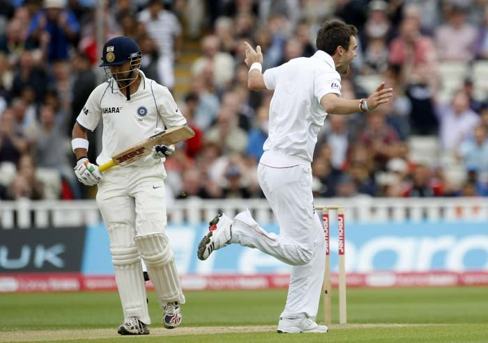 Already a wicket down and with a mammoth total staring at them, India lost Gautam Gambhir to James Anderson early to hint at what was in store for the visitors.