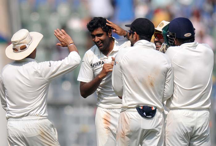 Pragyan Ojha and Ravichandran Ashwin shared 8 wickets between them as West Indies batsmen simply failed to put together a partnership.