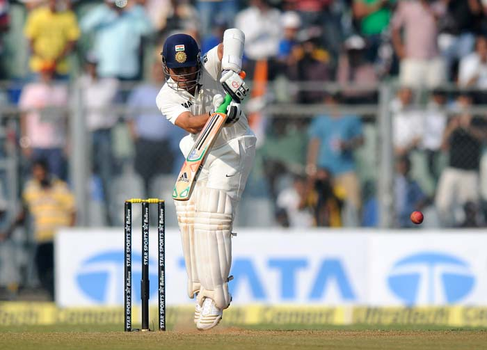 After losing 2 wickets in one over Pujara was joined by Tendulkar and the pair added 80 runs for the 3rd wicket.
