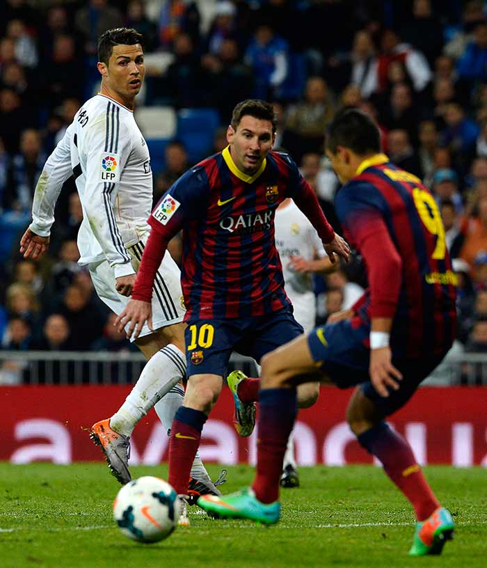 Lionel Messi's first goal came in the 42nd minute.