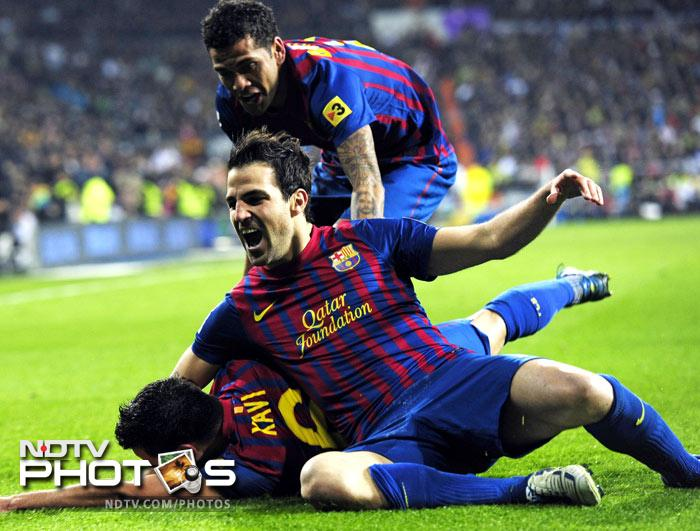 Cesc Fabregas then added the third in the 65th minute, scoring with a diving header from a fine cross by Dani Alves.
