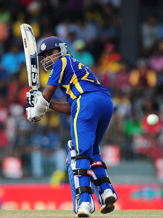 "<b>Mahela Jayawardene:</b> The Sri Lankan skipper doesn't hit the ball, he caresses it with such gentleness that one wonders if he is worried about hurting the ball. (AFP Photo)<br><br>Text Courtesy: <a href=""www.mid-day.com"" class=""fn fl fa fs12""><span class=""fr"">Mid-Day.com</span></a>"