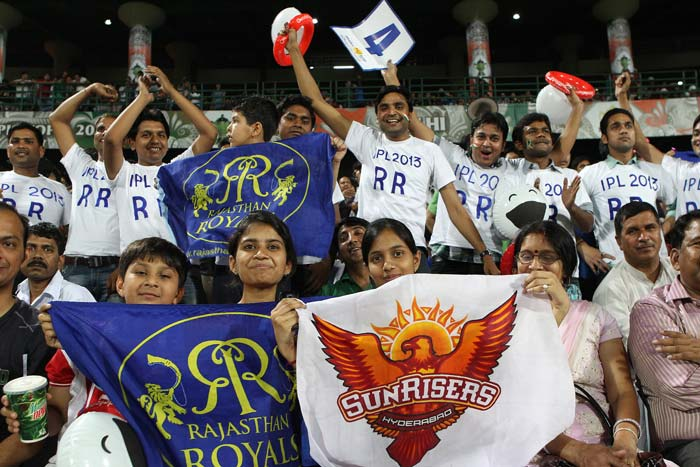 Despite the Sunrisers vs Rajasthan being a nuetral match in the Indian Premier League, the Delhi crowd gave ample support to the two teams in action on May 22 at the Feroz Shah Kotla. (BCCI image)