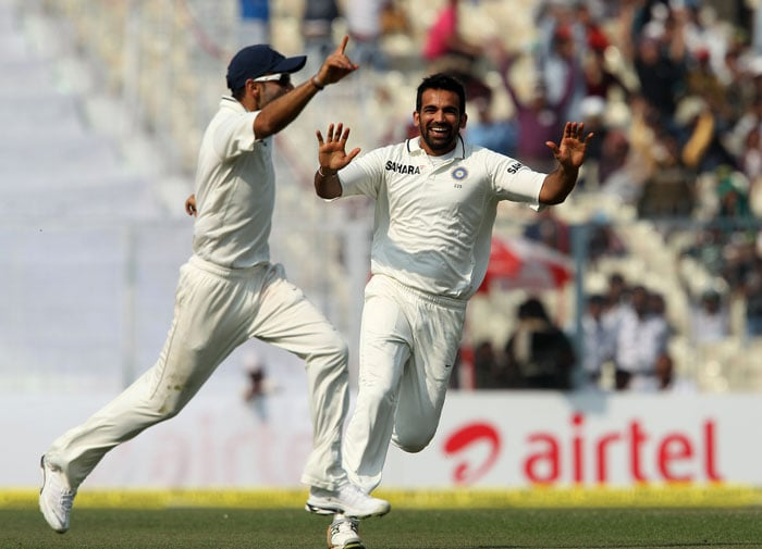 Virat Kohli is seen here celebrating what was India's most memorable moment of the day and also one of the most bizzare. He ran Cook out as the England skipper was trying to evade the ball. The bat hadn't reached the crease yet and the ball struck the stumps, ending his innings. (Image courtesy: BCCI)