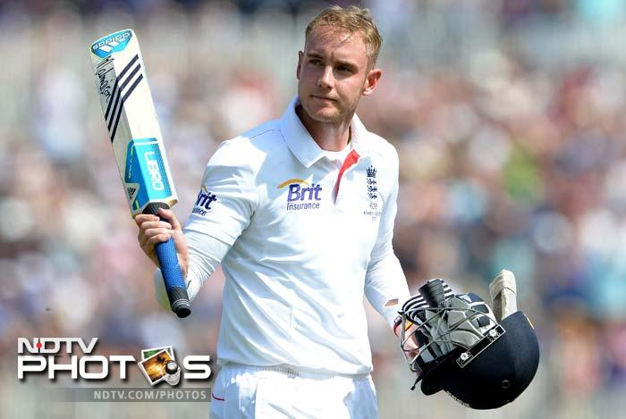 Bell, 95 not out overnight, shared a seventh-wicket partnership of 138 with Broad (65). <br> Bell has been often accused of not scoring runs when England most needed them but this was arguably the most valuable innings of his Test career. Broad was eventually out for 65 when caught behind off James Pattinson.