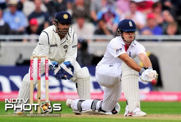 England might be without Andrew Strauss but with Kevin Pietersen's inclusion, a lot of troubles have been eased, even if just a bit. <b>Alastair Cook</b> has improved leaps and bounds and seems to be enjoying the extra charge, that of leading the side. Jonny Bairtstow, Nick Compton and Joe Root, all are first timers. In fact, Root and Compton will be Test debutants if and when they play. <br> <br> Cook already has 20 centuries and 29 fifties to his name in 83 Test matches of which 2 hundreds and 4 half centuries are against India. (All AFP Photos)