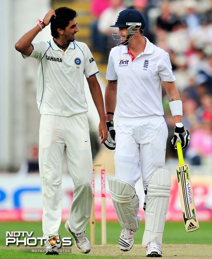 <b>Kevin Pietersen</b>: Cook announced before hand that KP will be batting at 4 and it is best for England that he does so. He has an immaculate record against the Men in Blue, averaging 62.15 overall and a decent 40.55 in Indian conditions.<br><br> Moreover, Pietersen will be pumped up for his return to cricket in England whites after all that happened regarding mobiles and smses, which was totally bereft of cricket.