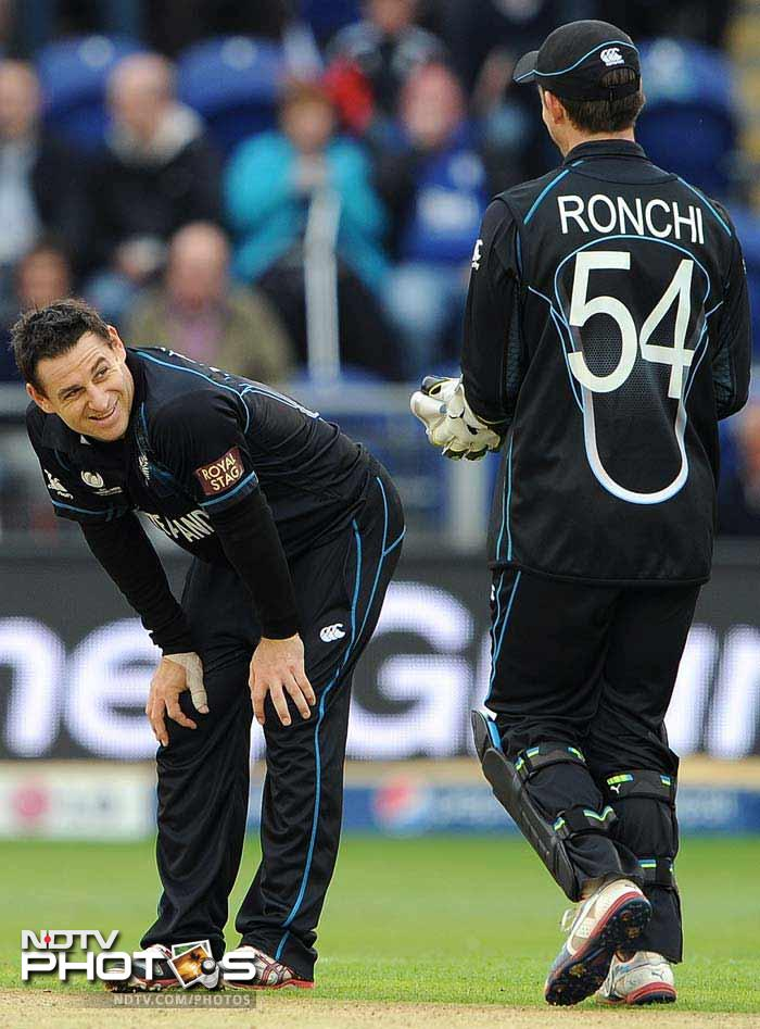 Nathan McCullum had a day he would never forget. The Kiwi dropped Cook 3 times in the match before finally catching him off his own bowling. Nathan took a total of 4 catches in the England innings.