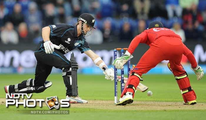 In the chase New Zealand batsmen faltered around Kane Williamson, who's gutsy 54-ball 67 failed to take the game to the wire.