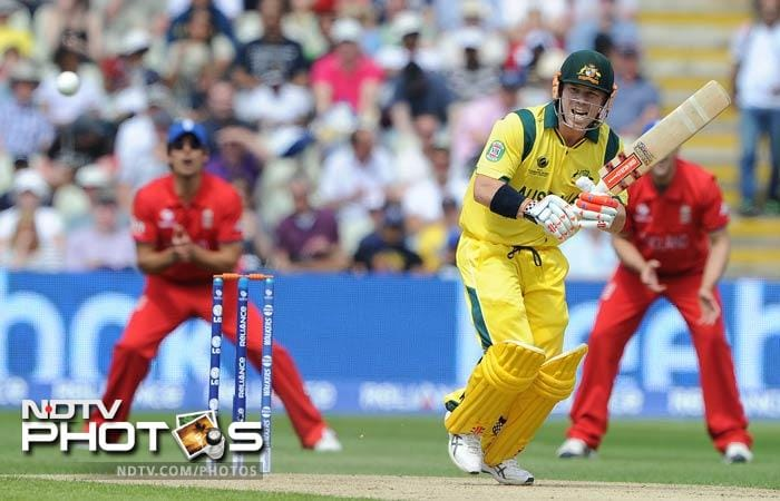 David Warner did not give Australia a good start and scored just 9 runs before departing.
