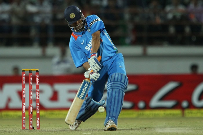 Skipper Dhoni and Suresh Raina then looked to take India home. At one point, it did look as though match was well within India's reach before a flurry of 'soft dismissals'. First Raina and then Dhoni went in quick succession to land heavy blows. (Photo credit: BCCI)