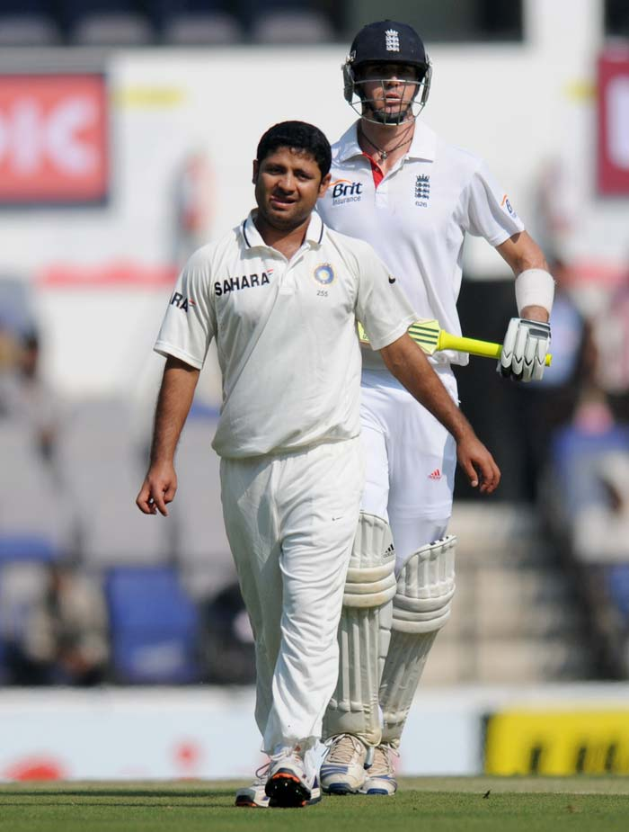 India had included Piyush Chawla to replace Zaheer Khan. Dhoni might have backed himself to win another toss but since Cook won it, the decision backfired slightly. Chawla's leg-spinners were not as successful as team would have wanted. He did take one crucial wicket though by removing the dangerous but out-of-touch Ian Bell. (Photo credit: BCCI)