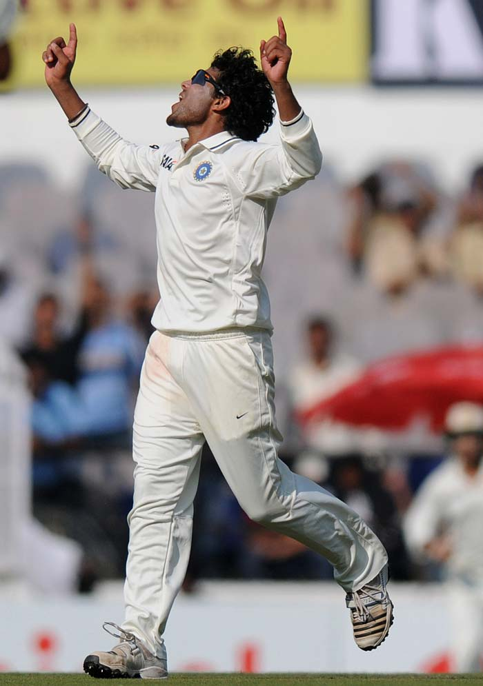 India's ace though, was the debutant Ravindra Jadeja. He took crucial breakthroughs of Kevin Pietersen and Jonathan Trott to give India some hope of dismissing England for a paltry total. He was exceptional in the field too. (Photo credit: BCCI)