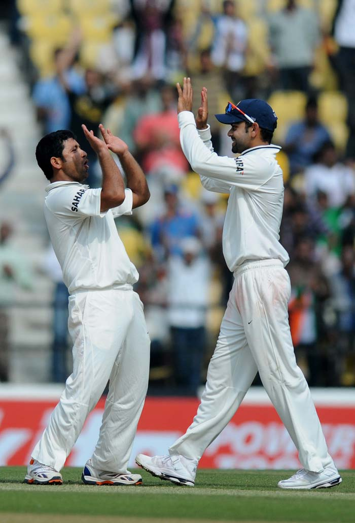 Piyush Chawla was the pick of the bowlers for India picking up three wickets in the day, including those of Joe Root and Graeme Swann. He ended up with his best Test figures of 4/69 but England had dented the home side's confidence by then or so it seemed. (Photo credit: BCCI)