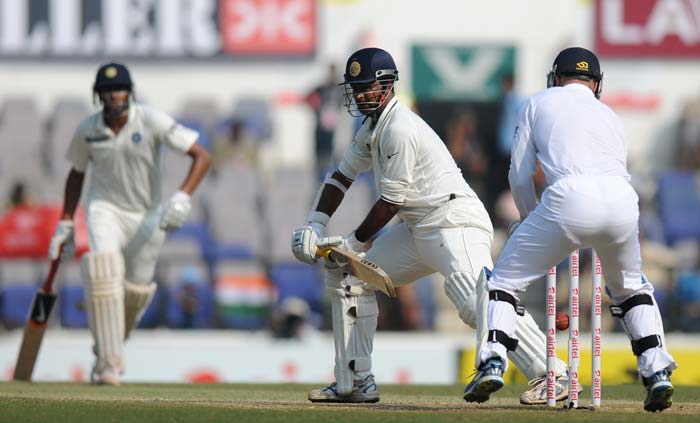 When Pragyan Ojha was dismissed off a Monty Panesar vicious turner from the rough, India spinners might have sniffed an opening. Come England innings, things did not look the same. (Photo credit: BCCI)
