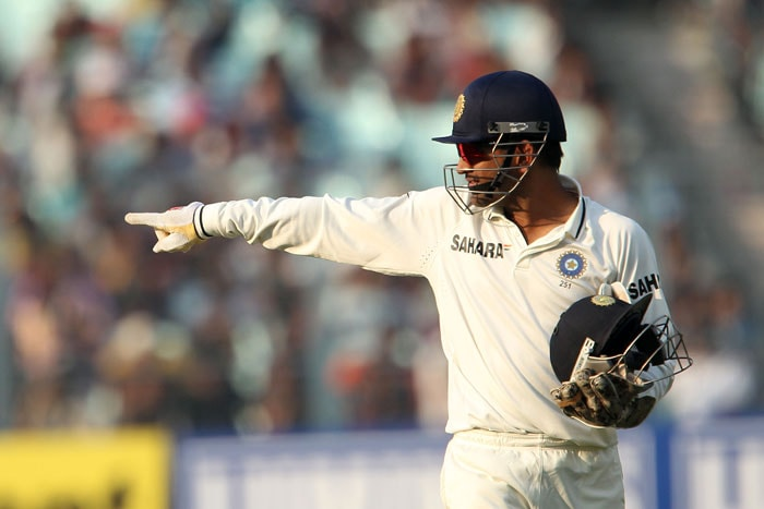 <b>Stubborn strategies:</b> Cricket pundits slammed India MS Dhoni for being stubborn with his on-field decisions, field placements and his persistent demand of spin-tracks. India's poor show has triggered the call of his removal as India's Test captain. (Image Courtesy: BCCI)