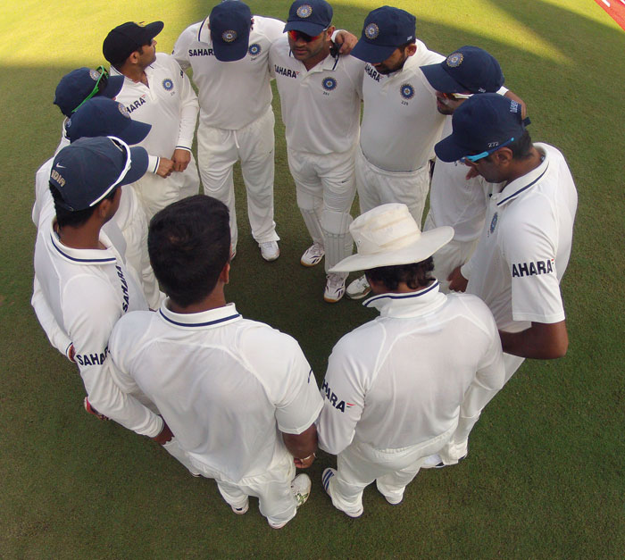 <b>Pitch talks:</b> There is nothing new in captains demanding for pitches favouring the home team. But skipper MS Dhoni went little overboard with it. Dhoni lambasted the Motera track despite winning the first Test. He said he wanted a spinning track and didn't care if the match ended in three days. India fell prey to its own ploy as England spinners Monty Panesar and Graeme Swann wreaked havoc in the Indian camp. Dhoni remained adamant and met with the similar fate in Kolkata. <b>Moral of the story: </b> Believe in yourself more than relying on others. (Image Courtesy: BCCI)