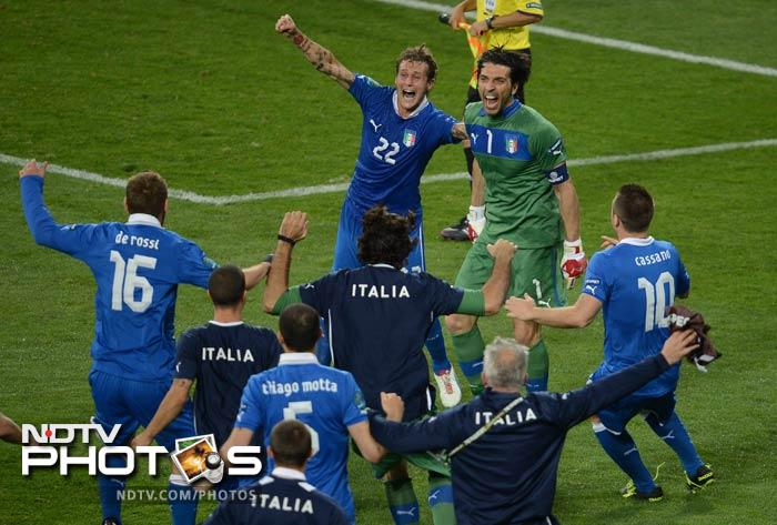 Italy rounded off the quartet of Euro 2012 semi-finalists on Sunday as England once again exited a major finals in a penalty shootout. (All AFP and AP Images)