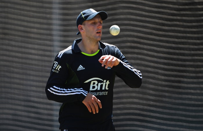 <b>JAMES TREDWELL</b><br><br> <b>Age: </b>28.<br><b>Role: </b>Left-handed batsman, Right-arm off-spin<br> <b>Stats: </b>ODIs 3, Runs 18, Highest 16, Average 18, Strike-Rate 58.06, Centuries 0, Fifties 0, Catches 0, Wickets 0, Ecomomy Rate 5.42<br><br> Unlikely to feature unless Swann unfit but will hope he can follow recent England 'reserve' trend and step to international level if called upon.(Photo: Getty Images)