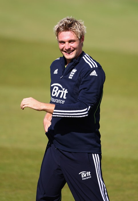 <b>LUKE WRIGHT</b><br><br> <b>Age: </b>25.<br><b>Role: </b>Right-handed batsman, Right-arm medium-fast<br> <b>Stats: </b>ODIs 44, Runs 656, Highest 52, Average 21.86, Strike-Rate 90.48, Centuries 0, Fifties 2, Catches 17, Wickets 15, Best Bowling 2-34, Average 55.20, Economy Rate 5.11<br><br> Yet to live up to the potential at the international level for all his big-hitting and surprisingly sharp pace bowling at county level. Saves plenty of runs with athletic fielding.(Photo: Getty Images)