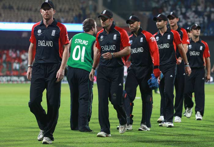 Ireland eventually got through with three wickets in hand causing one of the biggest upsets of the World Cup history. It was also the highest run chase in a World Cup match, certainly one that no one would have predicted. (Getty Images)