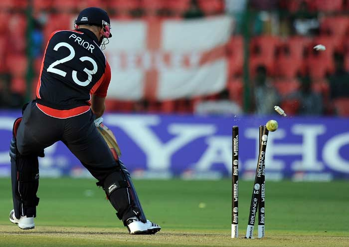 This time however, there was no one to get their act together and England were restricted to 327. The score in broader terms was huge, but considering England's situation 10 overs before, it was less than what many had expected. (AFP Photo)