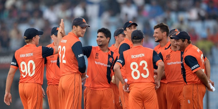 A spirited Netherlands side played out of their skins to upset England with a 45-run victory. This is the second time Netherlands beat England in World T20 (First time in 2009) (All images AP and AFP).