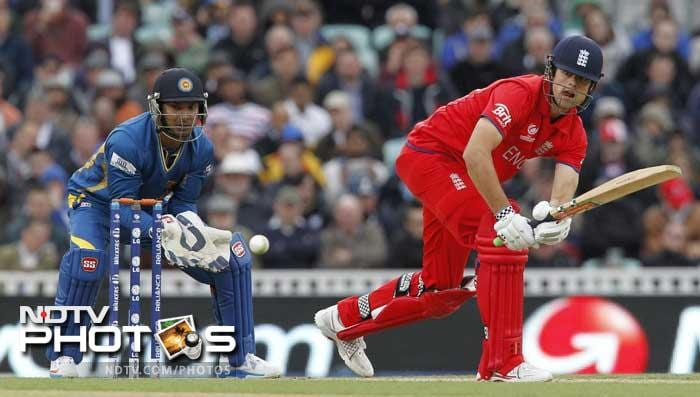 Alastair Cook led the way for England with a good knock of 59.