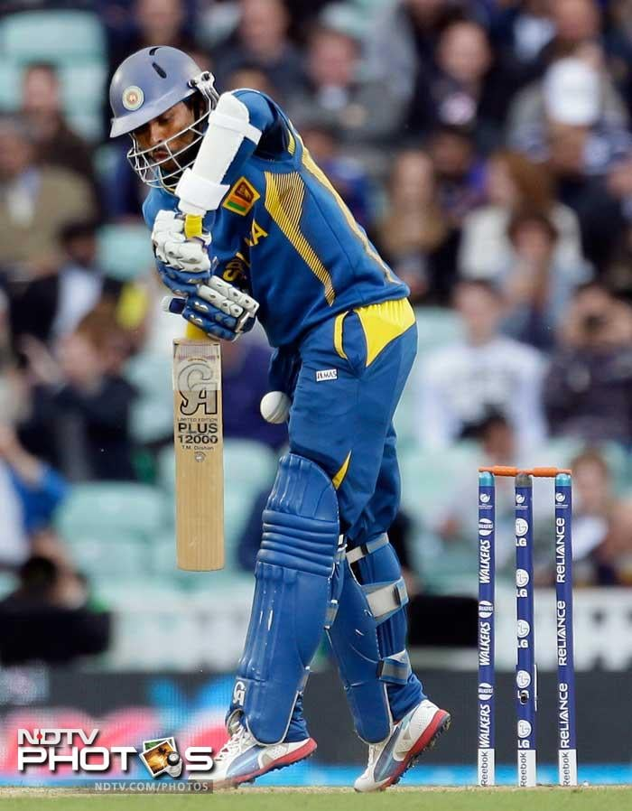 Tillakaratne Dilshan was aggressive in his innings of 44.
