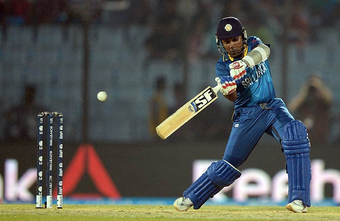 Riding on his lucky survival due to a dubious decision and a couple of dropped catches, Mahela Jayawardene led Sri Lanka's charge.