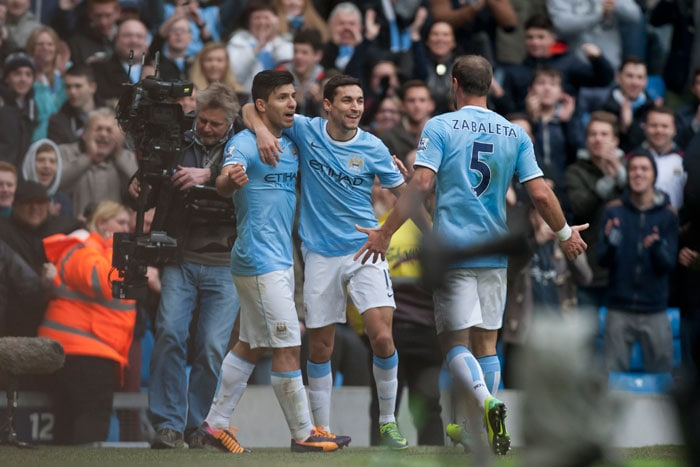 Manchester City rode a brace each from Sergio Aguero and Jesus Navas as they humbled Tottenham Hotspur 6-0 at home on Sunday. All AP images.