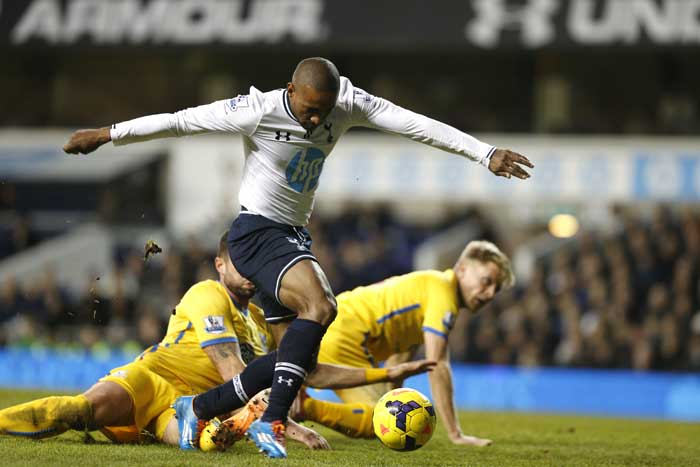 Out-of-favour striker Jermaine Defoe, whose move to the MLS is imminent, scored after coming on as a second-half substitute in Tottenham Hotspur's 2-0 victory over bottom-placed Crystal Palace.