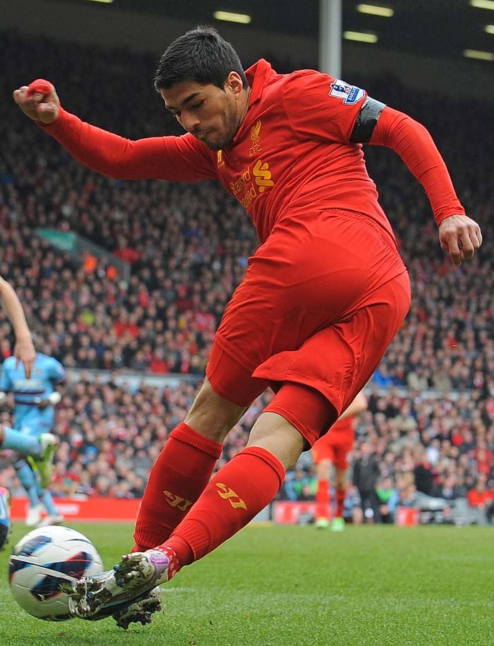 Liverpool striker Luis Suarez is seen trying to get creative but even this was not successful against West Ham. The result meant Brendan Rodgers' side remained in seventh place, six points below the European qualifying places.
