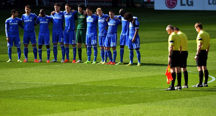 Earlier, both teams observed a minute's silence in respect of the Hillborough incident that took place 25 years ago.