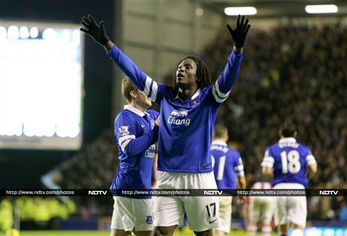 Everton provisionally moved to fourth in the Premier League after thrashing Stoke 4-0 at Goodison Park on Saturday.