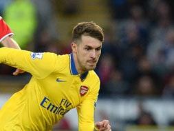 EPL: Ramsey brace sends Arsenal seven clear, West Ham hammer Fulham