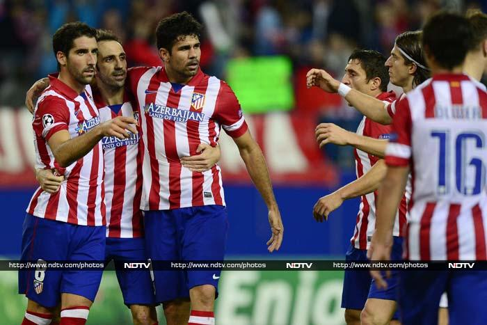 Atletico are through to the knockout stages for the first time since 2008-09 after making it four wins out of four in Group G to guarantee top spot.