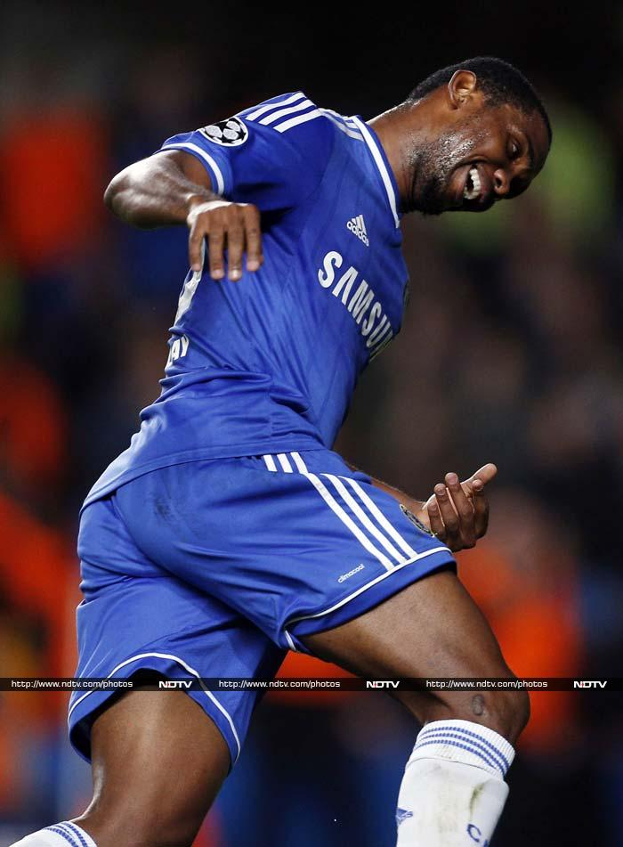 Chelsea have three strikes on their books. But Samuel Eto'o staked his claim for a starting berth ahead of Fernando Torres and Demba Ba to lead Chelsea to a 3-0 victory over Schalke in the Champions League.